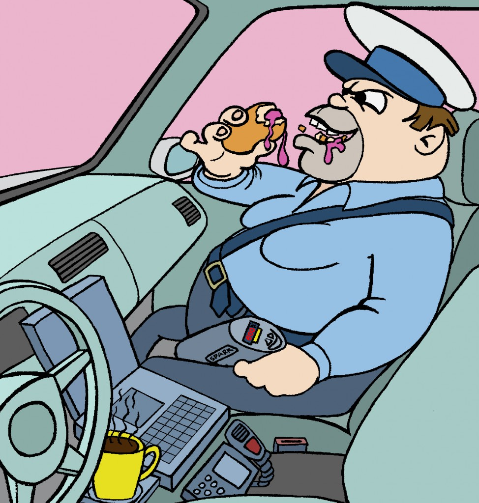 Policjant w Samochodzie