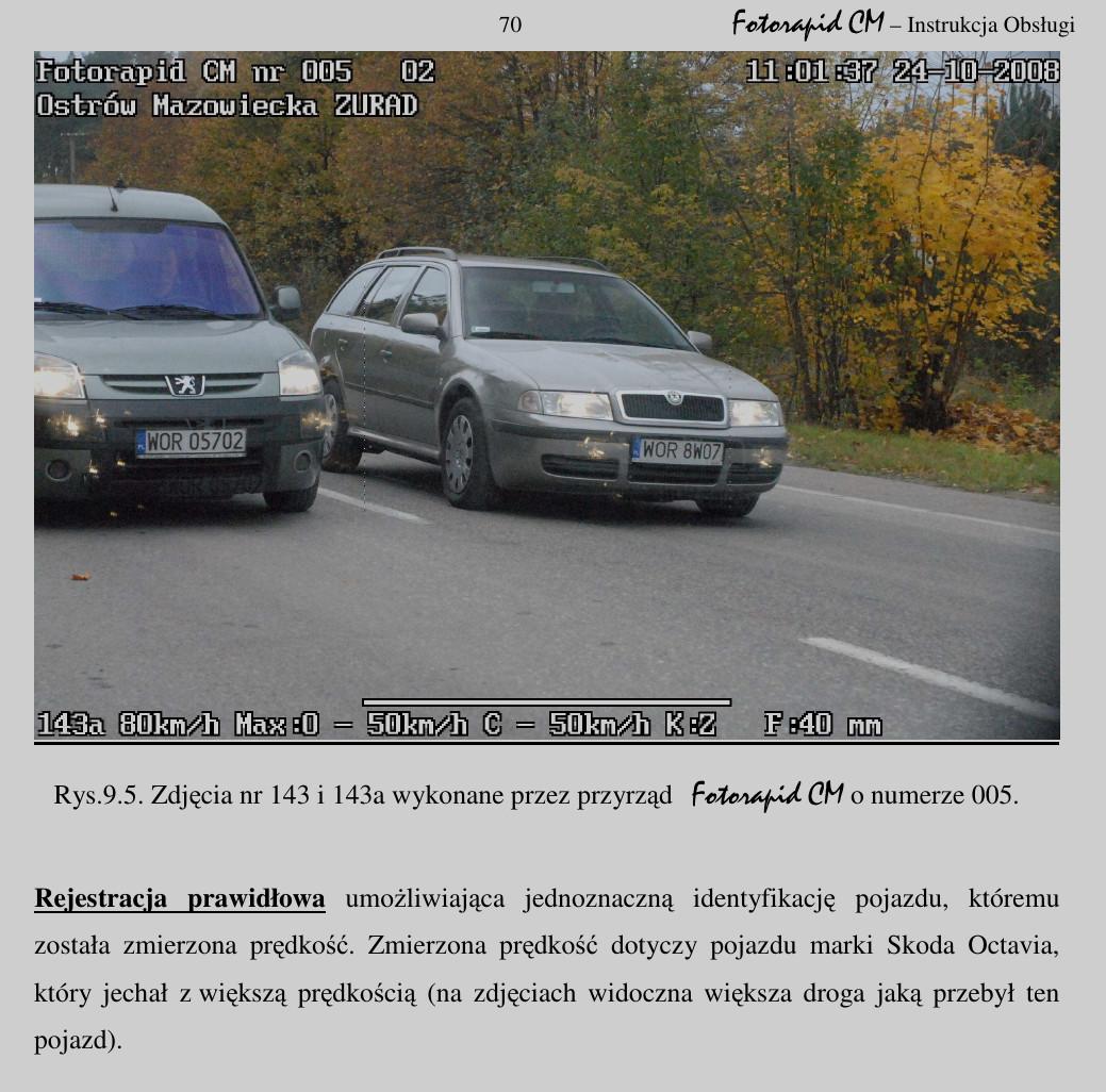 Fotorapid CM. Instrukcja strona 70